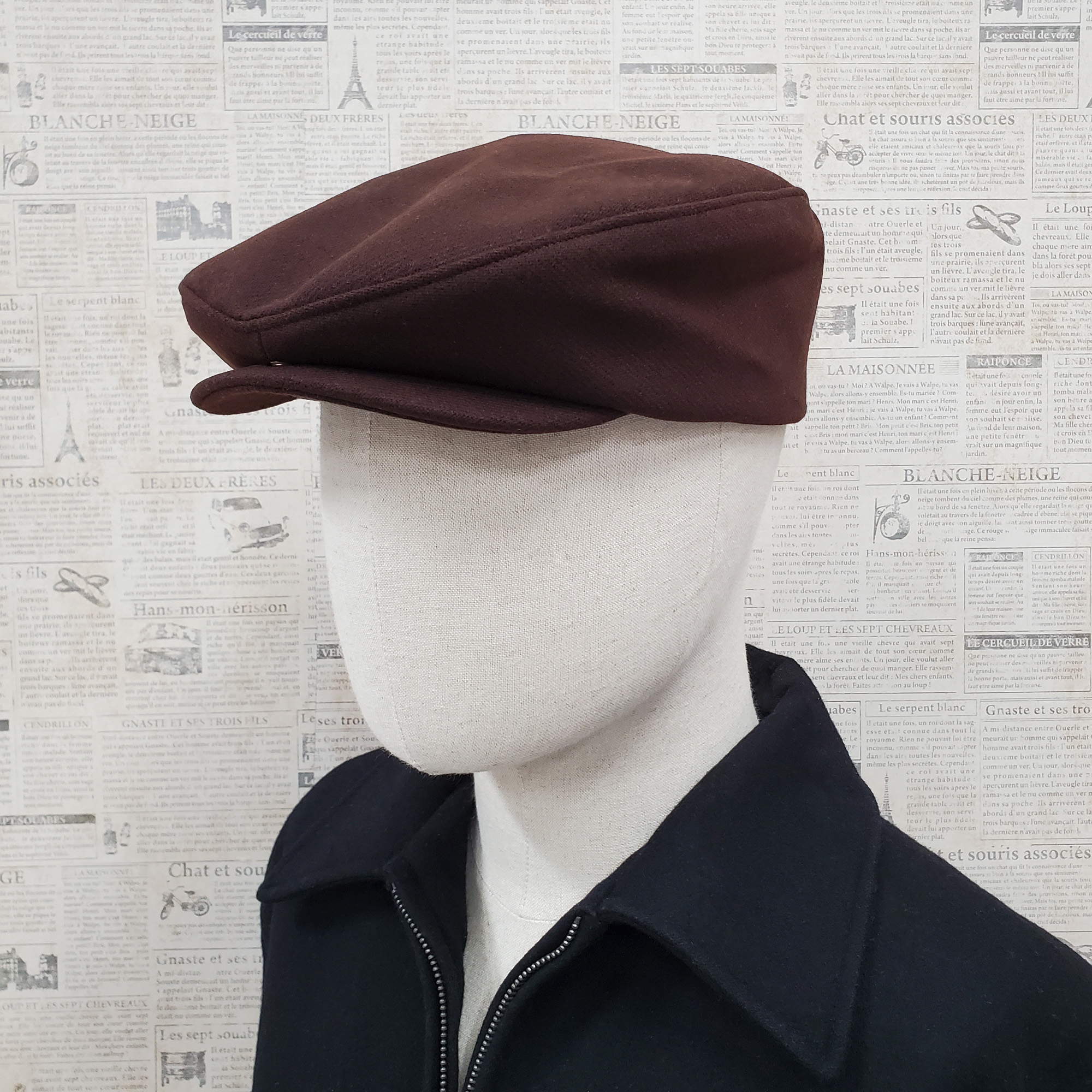 Brown Wool Traditional Ascot Ivy Driver Cap