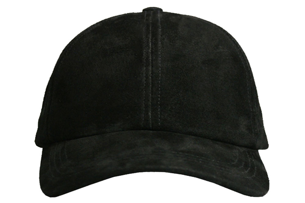 Dark Brown Suede Leather Baseball Cap Curved Visor 2cb17481414a