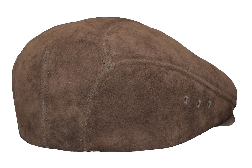 Suede Leather Ascot Ivy Driver Cap Light Brown 7785ce92baa