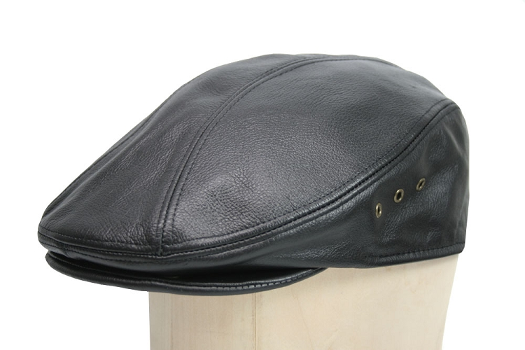 Sienna Leather Cowhide Ascot Ivy Cap
