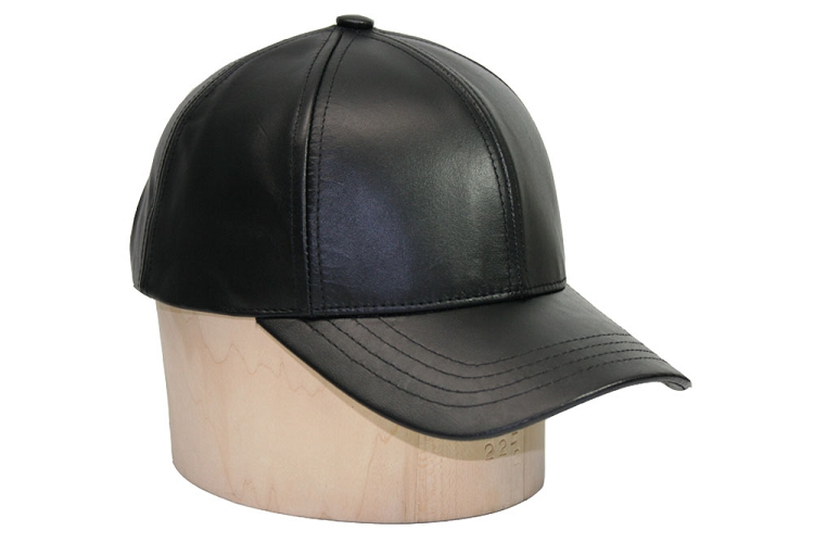 Classic Leather Baseball Cap Black d03353d7cc6