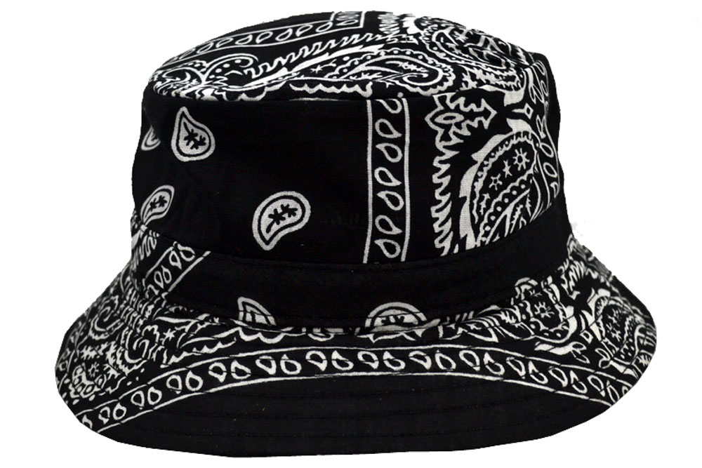 4123e2a1346 Emstate Paisley Bandana Bucket Hat (Various Colors)