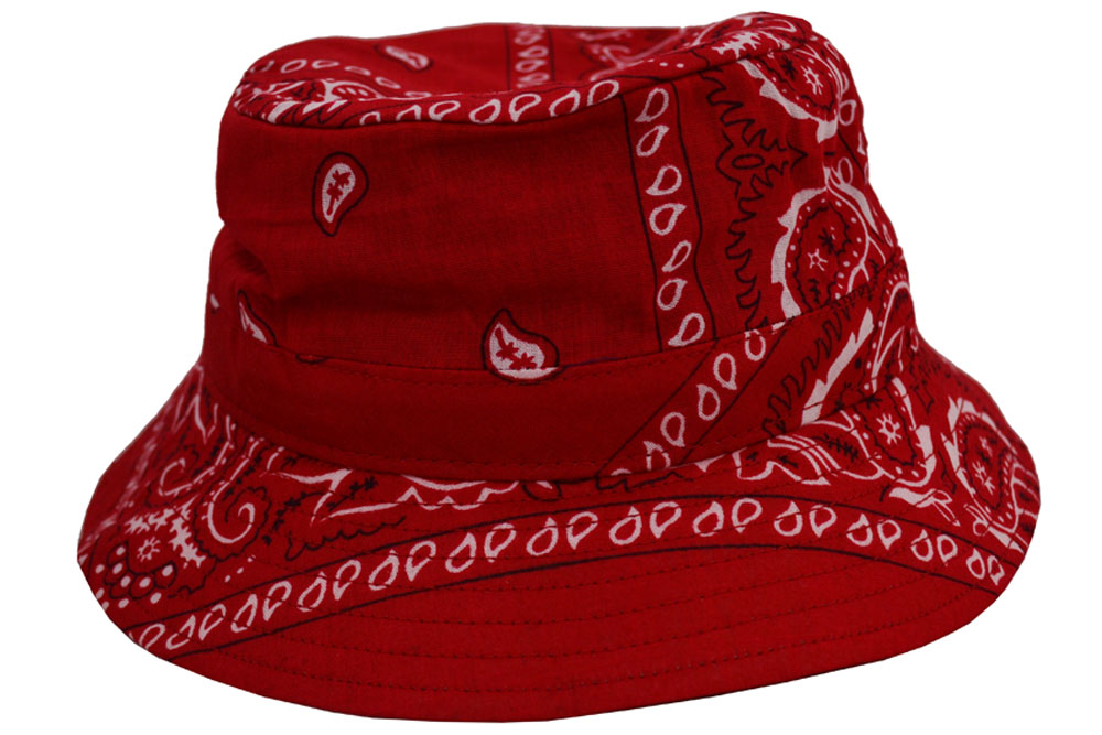 Emstate Paisley Bandana Bucket Hat Various Colors