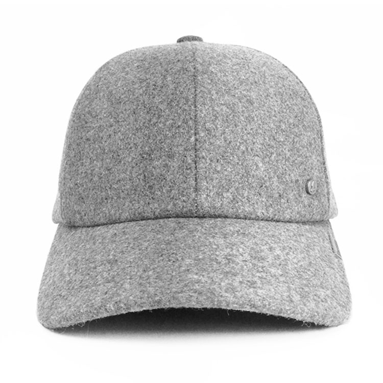 907a72f2975 Emstate Heather Grey Melton Wool Cold Weather Baseball Cap