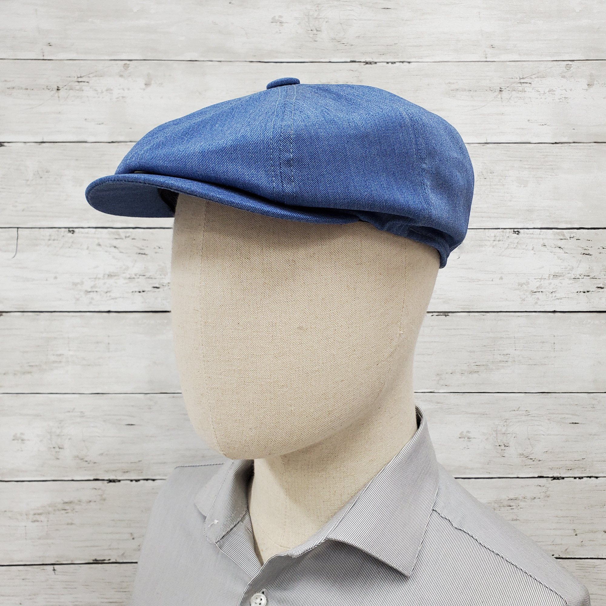 Denim Eco Twill Slim Newsboy Cap