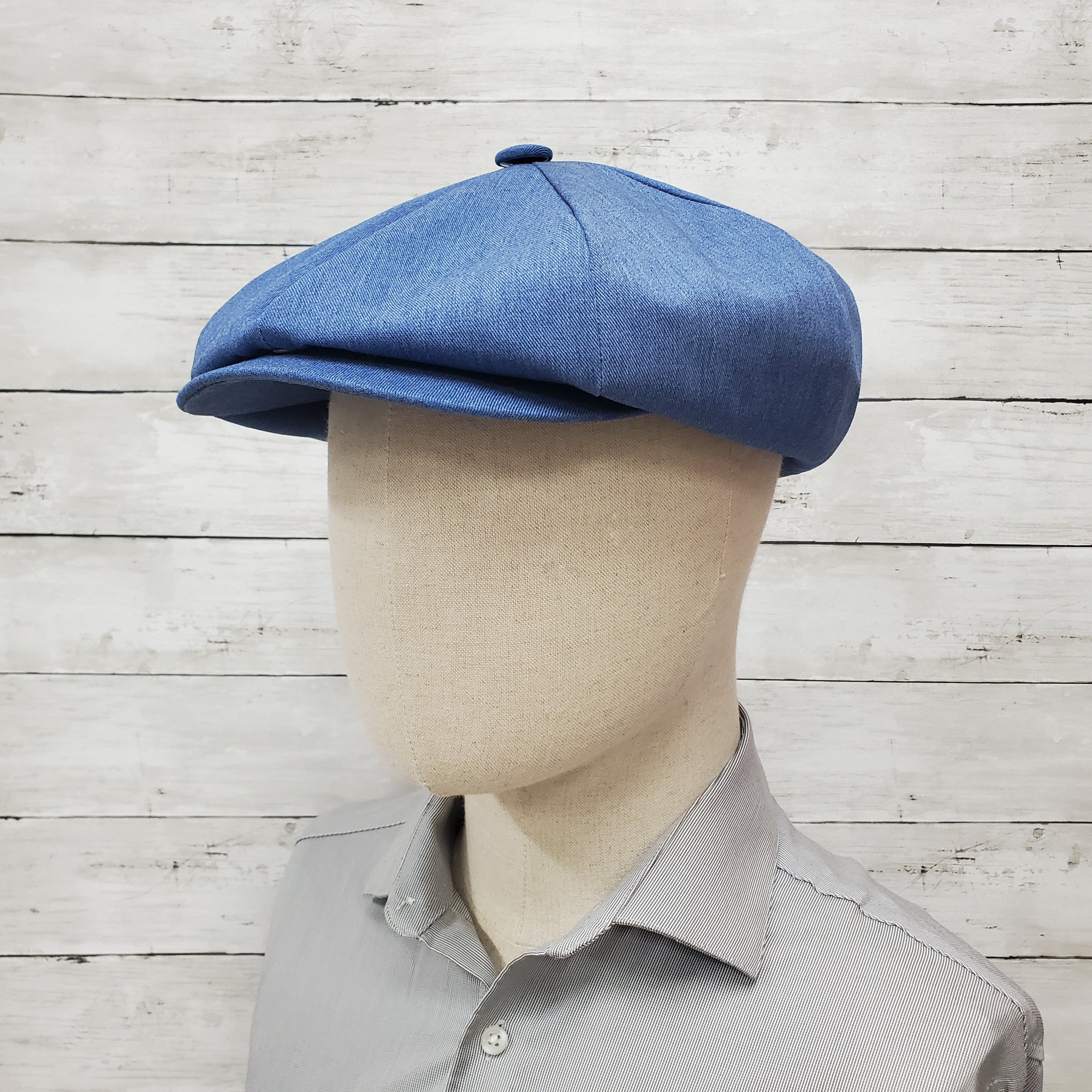 Denim Eco Twill Apple Newsboy Cap