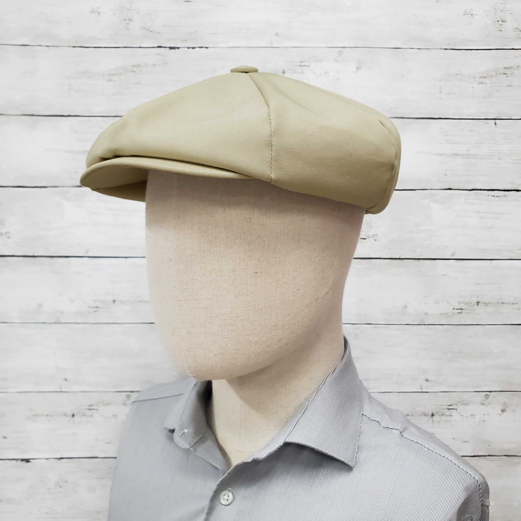Stone Eco Twill Apple Newsboy Cap