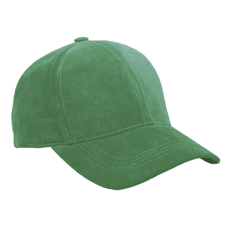 Kelly Green Suede Leather Baseball Cap Curved Visor 75458c704b7