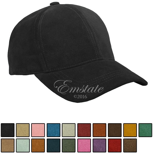 Emstate Genuine Suede Leather Baseball Cap 19 Different Colors