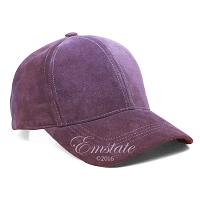 Purple Suede Leather Baseball Cap