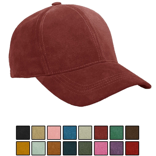 Emstate Genuine Suede Leather Baseball Cap 16 Different Colors