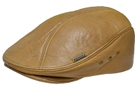 Honey Emstate Lambskin Leather Ascot Ivy Driver Cap