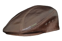 Emstate Vintage Leather Ascot Ivy Driver Cap