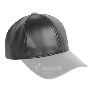Black Light Grey Two Tone Cowhide Leather Baseball Cap