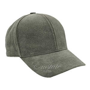 Distressed Black Leather Baseball Cap
