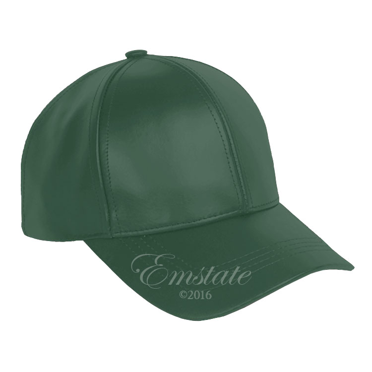 Classic Leather Baseball Cap Forest Green 3ac1bd14085
