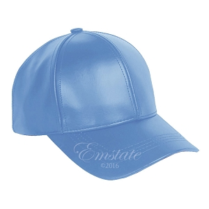 Sky Leather Baseball Cap