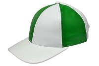 Kelly Green/White Patch Combo Leather Baseball Cap