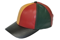 Tricolor Patch Combo Leather Baseball Cap