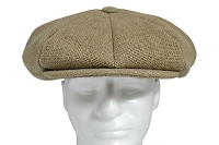 Burlap Linen Big Applejack Cap
