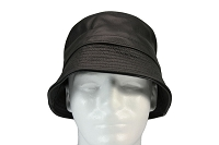 Siena Leather Bucket Hat Straight Brim One Size
