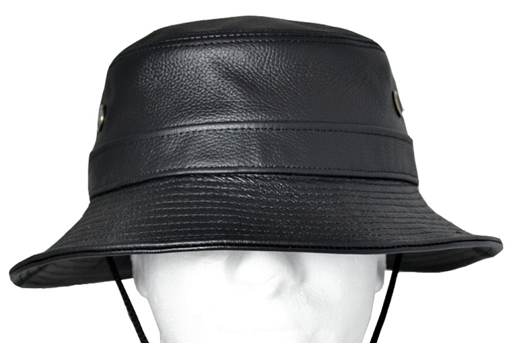 Siena Leather Bucket Hat One Size d606df33d45