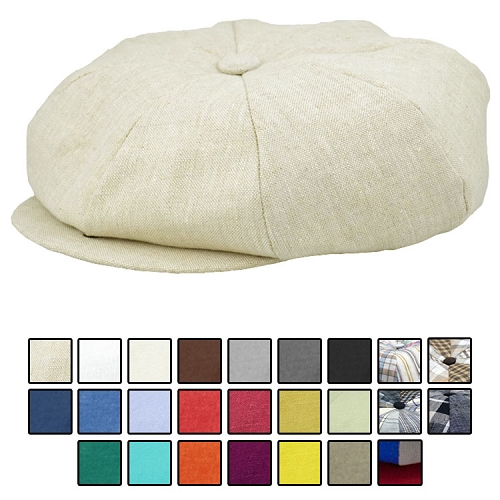 Emstate Irish Linen Big Apple Newsboy Cap 25 Different Colors