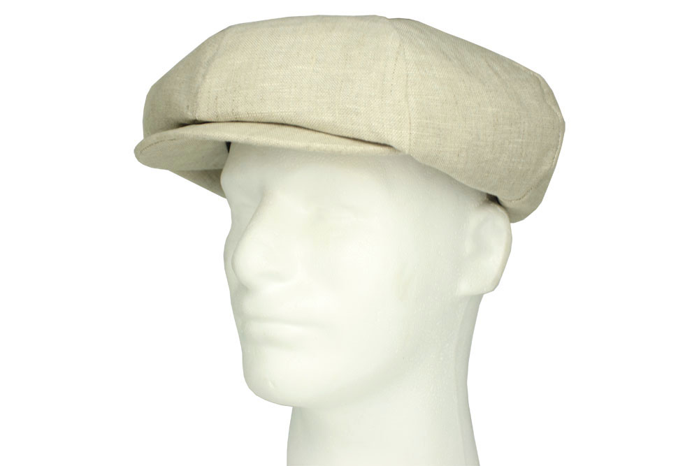 Emstate Irish Linen Big Apple Newsboy Cap