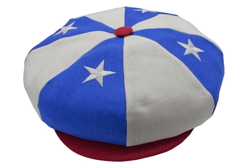 Emstate American Flag Patriotic Linen Big Apple Newsboy Cap