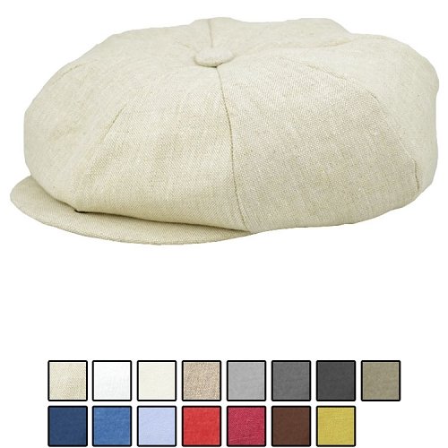 Emstate Irish Linen Big Apple Newsboy Cap 15 Different Colors