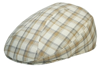 Light Brown Plaid Irish Linen Ascot Ivy Cap