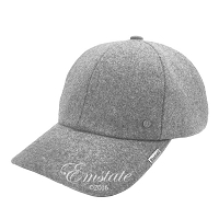 Emstate Heather Grey Melton Wool Baseball Cap