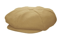 Camel Melton Wool 8 Panel Applejack Newsboy One Size