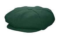Hunter Green Melton Wool 8 Panel Applejack Newsboy One Size