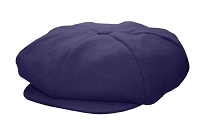 Navy Melton Wool 8 Panel Applejack Newsboy One Size