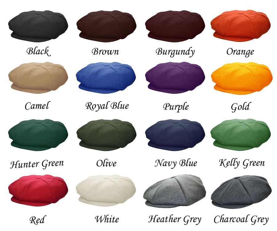 00dd55a8f4b Emstate Melton Wool Apple Newsboy Cap 13 Different Colors