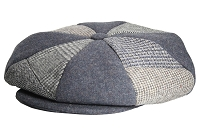 Grey Patch Combo Melton Wool Applejack One Size
