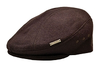 Brown Emstate Wool Ascot Ivy Flat Gatsby Driver Cap