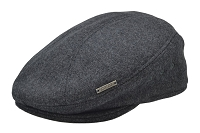 Charcoal Grey Emstate Wool Ascot Ivy Flat Gatsby Driver Cap