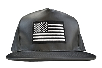 Black Leather Nation Snapback