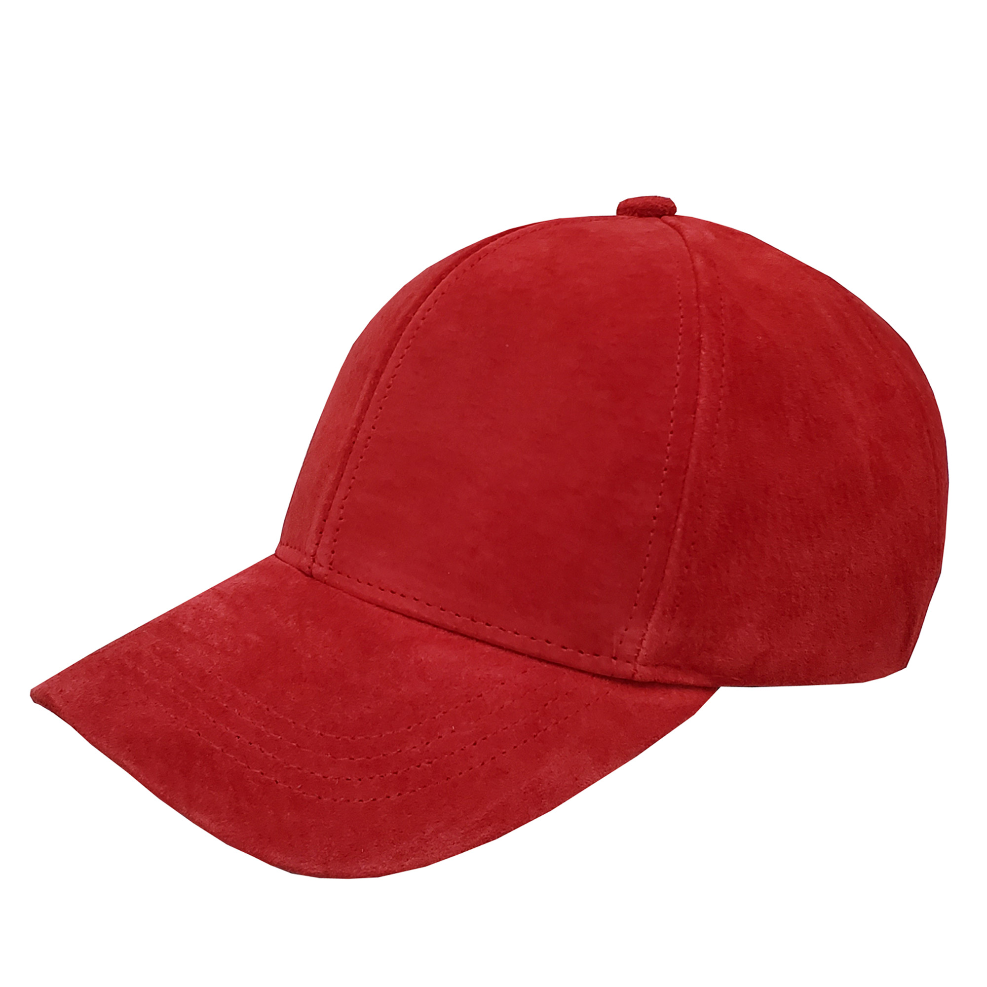 Classic Suede Baseball Cap Red