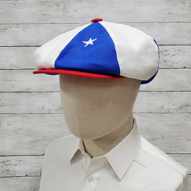 Emstate American Flag Patriotic Linen Apple Newsboy Cap