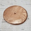 Metallic Copper Genuine Leather Beret Flat View