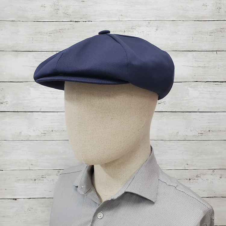 Navy Eco Twill Apple Newsboy Cap