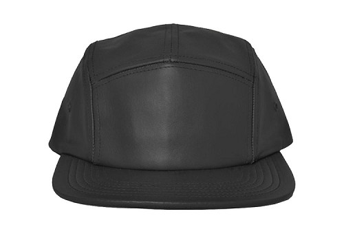 f0c256930d63d Leather 5 Panel Camp Cap Wholesale flat visor