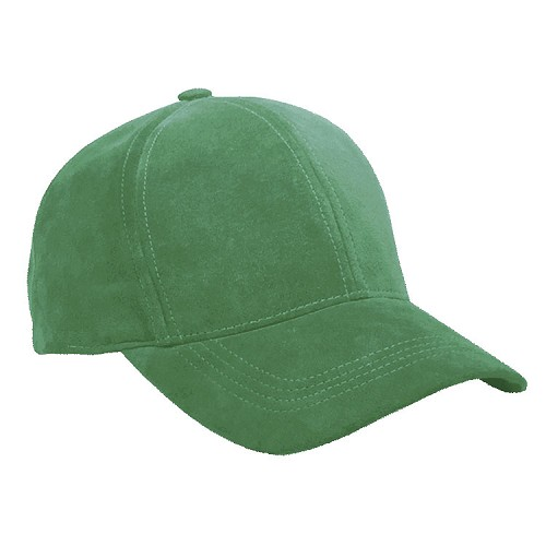 Classic Suede Baseball Cap Kelly Green