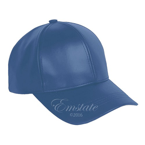 Classic Leather Baseball Cap Royal Blue