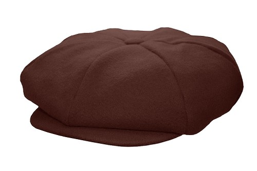 Brown Melton Wool 8 Panel Applejack Newsboy One Size
