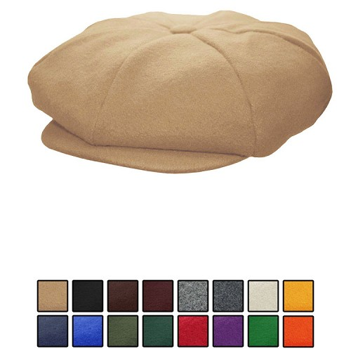 Emstate Melton Wool 8 Panel Apple Newsboy Cap 13 Different Colors