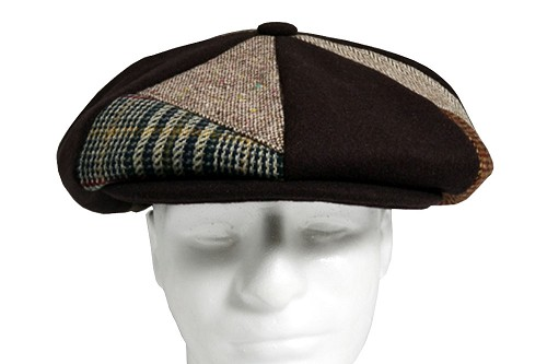 Brown Patch Combo Melton Wool Applejack One Size
